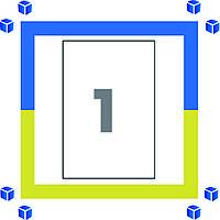 Самоклеющаяся бумага (самоклейка) на 1 ячеек (210х297мм /100/ А4*8)