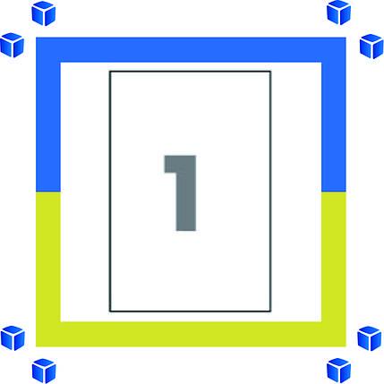 Самоклеющаяся бумага (самоклейка) на 1 ячеек (210х297мм /100/ А4*8), фото 2