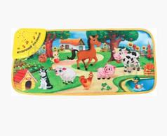 Детский музыкальный развивающий коврик с животными Домашні тваринки KI-780-U
