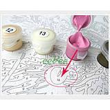 Картина за номерами Brushme Ніжні білі і рожеві півонії у вазі Розфарбування Розпис 40 х 50 см Квіти (57968), фото 5