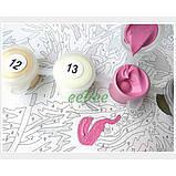 Картина за номерами Brushme Ніжні білі і рожеві півонії у вазі Розфарбування Розпис 40 х 50 см Квіти (57968), фото 6