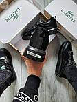 Мужские кроссовки Lacoste Black (черные) 615TP Легкие кроссы на весну и лето, фото 3