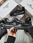 Мужские кроссовки Lacoste Black (черные) 615TP Легкие кроссы на весну и лето, фото 5