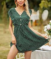 Женское летнее платье в горох новинка 2021