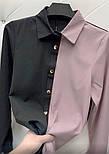 "Женская двухцветная блуза ""Nikita""  Норма, фото 2"