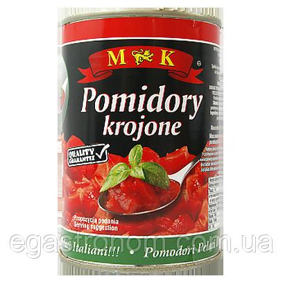 Помідори МК різані у власному соці Мк pomidory krojone 400/240g 12шт/ящ (Код : 00-00005822)
