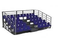 Трибуни на стадион 42 места, 5 ярусов без навеса