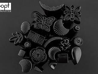 Набор штампов для тиснения по коже (00-102) чёрные