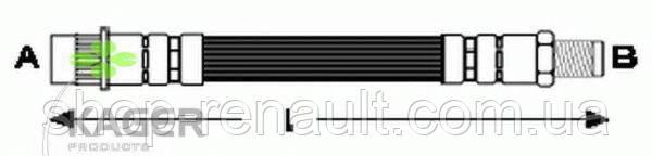 Шланг переднего тормоза KAGER, 38-0622