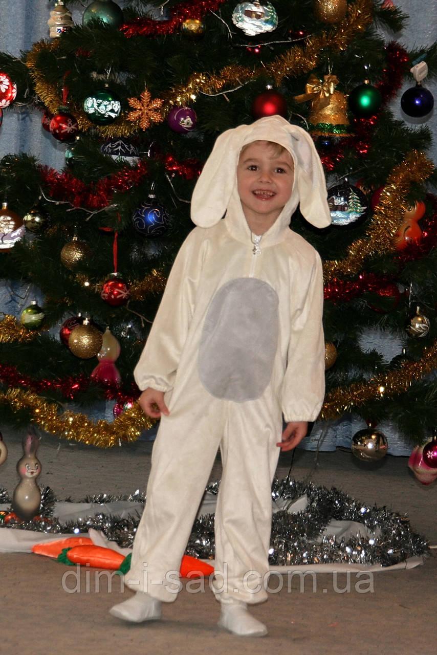 Новогодний костюм зайчика на 3-5 лет(рост 98см белый и ... - photo#7
