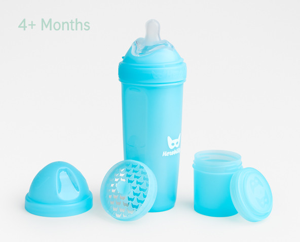 Herobility - Пляшечка Herobottle 340 ml, колір блакитний