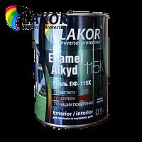 Эмаль ПФ-115К LAKOR черная 2,8 кг