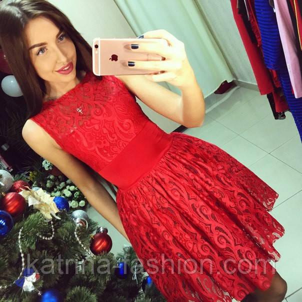 2079bffb01d Женское нарядное красное платье с пышной юбкой  продажа