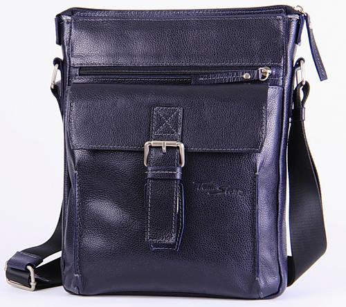 Мужская кожаная сумка на плечо Tom Stone 512BL синий