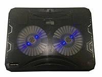 Охолоджуюча підставка для ноутбука UKC Notebook Cooler Pad N130 Black, фото 1