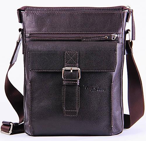 Мужская кожаная сумка на плечо Tom Stone 512BR коричневый
