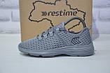 Підліткові легкі кросівки сітка сірі Restime, фото 4
