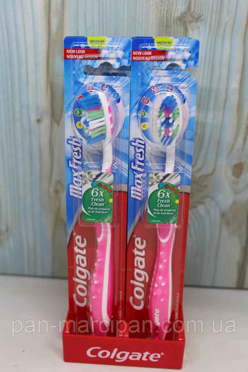 Зубна щітка Colgate Max fresh Medium