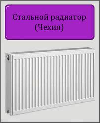Сталевий радіатор 500х500 22 тип (бокове підключення) Чехія