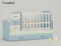 """Кровать - трансформер """"Maya"""" ORIS-mebel (цвет Бело-голубой), фото 1"""