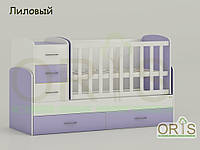 """Кровать - трансформер """"Maya"""" ORIS-mebel (цвет Бело-лиловый)"""