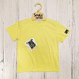 Футболка вільного крою для хлопчика SmileTime Adventure, лимонна, фото 2
