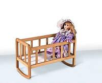 Кроватка для куклы (Бук)