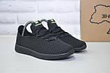 Подростковые мужские летние кроссовки сетка черные Restime(размеры в наличии 36-41), фото 2
