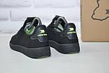 Подростковые мужские летние кроссовки сетка черные Restime(размеры в наличии 36-41), фото 4