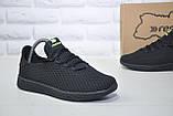 Подростковые мужские летние кроссовки сетка черные Restime(размеры в наличии 36-41), фото 3