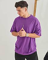 Чоловіча футболка оверсайз фіолетова, фото 1