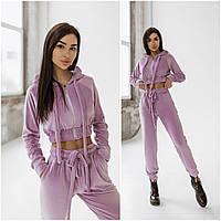 Лавандовый велюровый спортивный костюм женский (4 цвета) FL/-9758