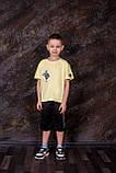 Футболка вільного крою для хлопчика SmileTime Adventure, лимонна, фото 4