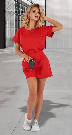 Льняной женский костюм с шортами 42,44,46р., фото 2