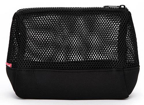 Стильная женская косметичка-клатч POOLPARTY MESH cosmetic-mesh-black черная