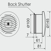 Жаростійкий вентилятор з квадратної панеллю