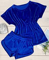 Яркий костюм для дома и отдыха из плюшевого велюра. Удобная женская одежда.