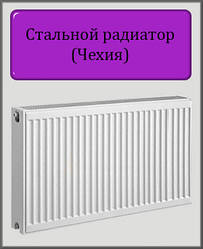 Сталевий радіатор 300х800 22 тип (бокове підключення) Чехія