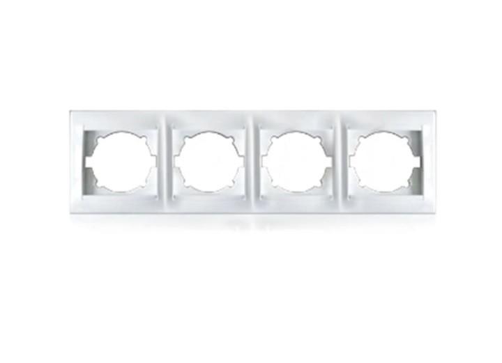 Рамка чотиримісна для розеток та вімікачів Erste Prestige (9206-84)