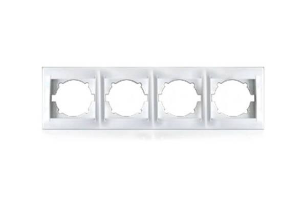 Рамка чотиримісна для розеток та вімікачів Erste Prestige (9206-84), фото 2