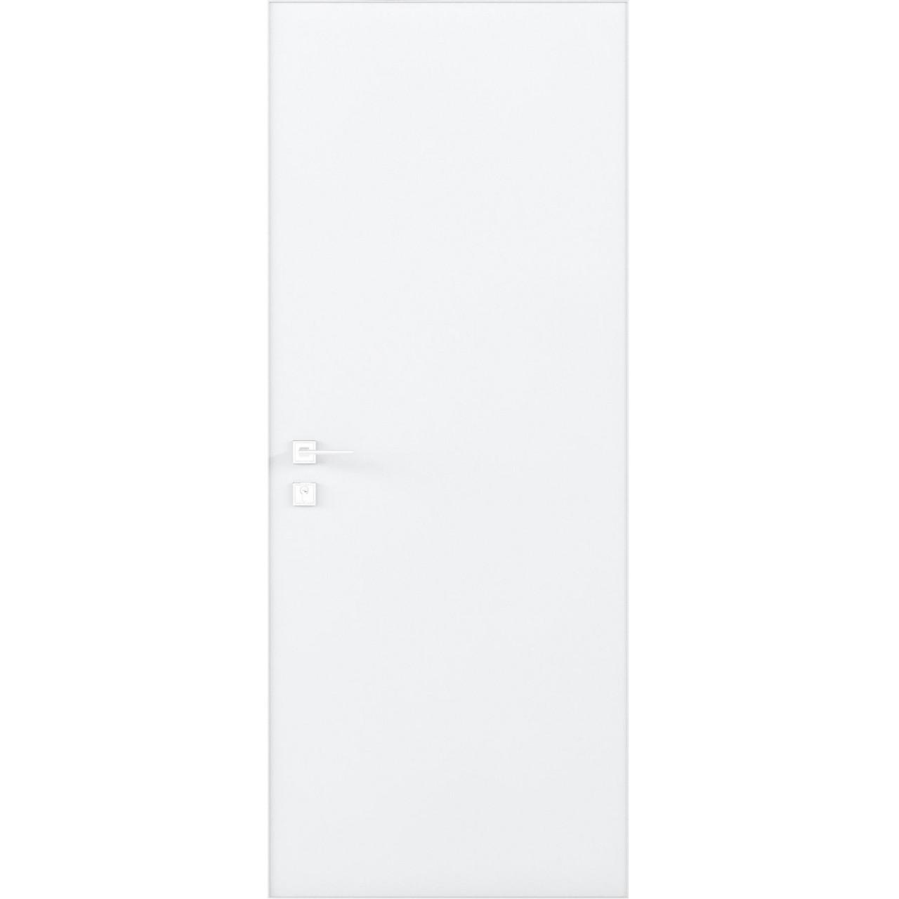 Двері прихованого монтажу Rodos Кортес Prima Alum Біла матова (полотно)