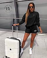 Спортивный костюм женский с шортами Nike черный (2 цвета) ВА/-3762