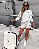 Спортивный костюм женский с шортами Nike белый (2 цвета) ВА/-3762