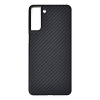 Карбоновий чохол для Samsung Galaxy S21 Karbon case, фото 1
