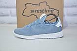 Женские лёгкие голубые кроссовки сетка Restime, фото 4
