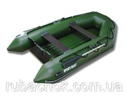 Лодка надувная Sport-Boat N 340LD + Насос электрический Турбинка 12V АС 401