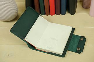 """Обложка для блокнота А5 """"Модель № 2"""" Кожа краст цвет Зеленый, фото 2"""