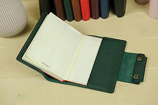 """Обложка для блокнота А5 """"Модель № 2"""" Кожа краст цвет Зеленый, фото 3"""