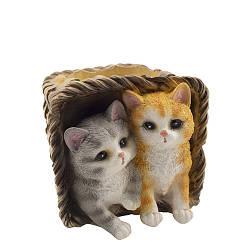 Кашпо Decoline Корзина с котятами (гипс) K0719(G)