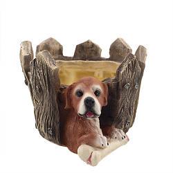 Кашпо Decoline Собака за забором (гипс) K0755(G)